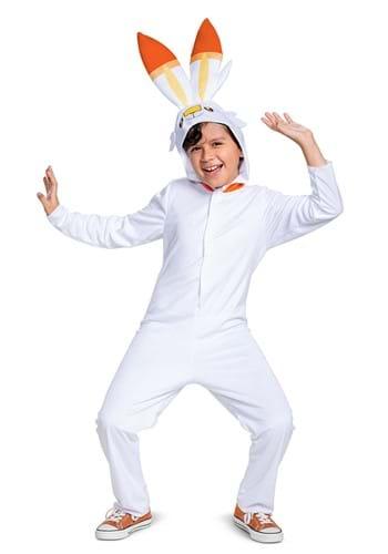 Pokemon Scorbunny Hooded Jumpsuit Classic Kids Costume