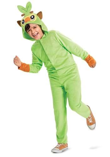 Pokemon Grookey Hooded Jumpsuit Classic Kids Costume
