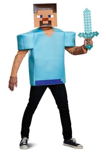 Adult Minecraft Steve Costume
