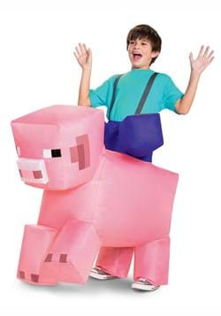 Minecraft Child Ride-On Inflatable Pig Costume