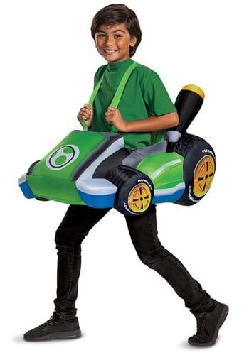 Inflatable Yoshi Cart Kids Costume