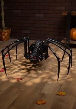 """40"""" Black Skeleton Spider w/Light up Eyes and Timer"""
