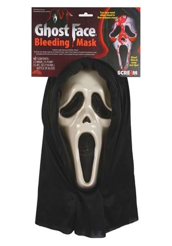 Ghost Face Bleeding Mask for Adults