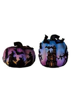 Set of Light Up Witch Pumpkins