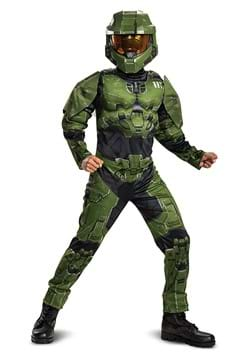 Halo Infinite Master Chief Muscle Kids Costume