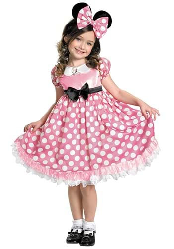 Click Here to buy Minnie Mouse Girls Pink Dot Glow in the Dark Dress from HalloweenCostumes, CDN Funds & Shipping