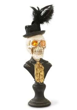 "18"" Skeleton Bust w/LED Eyes on Pedestal"
