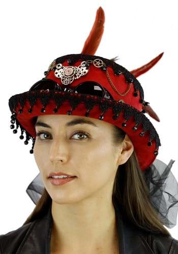 Steampunk Burgundy Hat