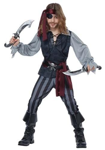 Sea Scoundrel Pirate Kids Costume