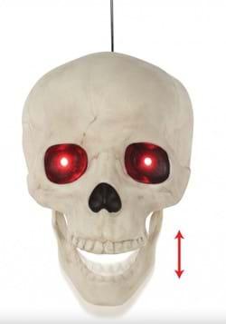 Life Sized Animated Hanging Skull