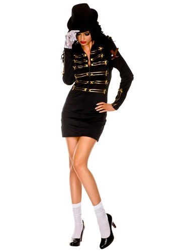 Click Here to buy Sexy One Glove Pop Star Costume from HalloweenCostumes, CDN Funds & Shipping
