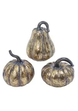 Set of 3 Gold 6 Pumpkins