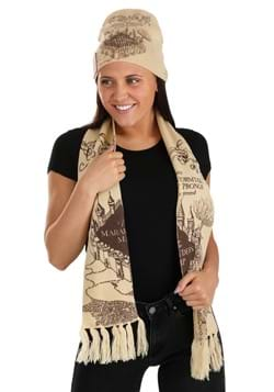 Harry Potter Marauders Map Knit Hat & Scarf