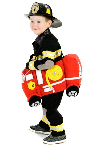 Click Here to buy Ride in a Fire Truck Costume from HalloweenCostumes, CDN Funds & Shipping