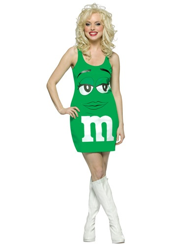 Click Here to buy Womens Green M&M Costume from HalloweenCostumes, CDN Funds & Shipping