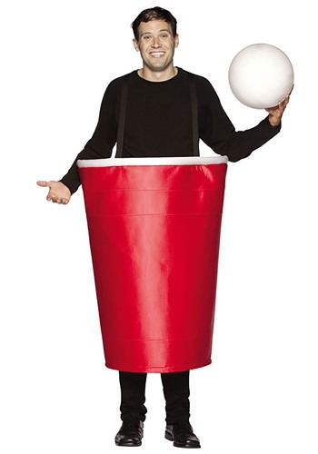 Click Here to buy Adult Beer Pong Cup Costume from HalloweenCostumes, CDN Funds & Shipping