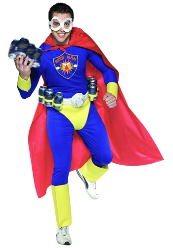 Click Here to buy Adult Beer Man Costume from HalloweenCostumes, CDN Funds & Shipping