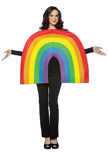 Click Here to buy Adult Rainbow Costume from HalloweenCostumes, CDN Funds & Shipping