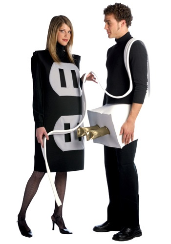 Click Here to buy Plug and Socket Costume - Funny Couples Costume Ideas from HalloweenCostumes, CDN Funds & Shipping