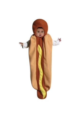 Click Here to buy Baby Hotdog Bunting  Costume | Funny Halloween Baby Costume from HalloweenCostumes, CDN Funds & Shipping