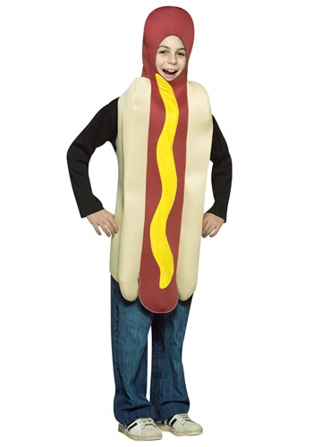 Click Here to buy Kids Hot Dog Costume from HalloweenCostumes, CDN Funds & Shipping