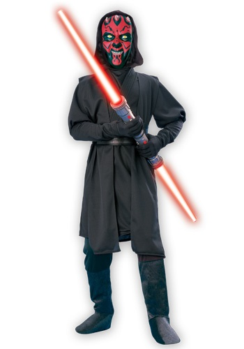 Click Here to buy Kids Darth Maul Deluxe Costume from HalloweenCostumes, CDN Funds & Shipping