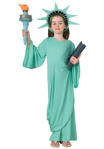 Click Here to buy Kids Statue of Liberty Costume from HalloweenCostumes, CDN Funds & Shipping
