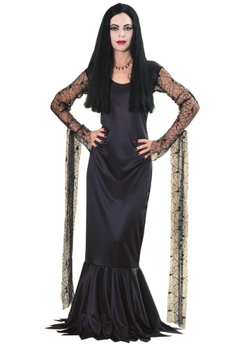 Click Here to buy Morticia Addams Costume from HalloweenCostumes, CDN Funds & Shipping