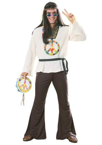 Click Here to buy Adult Groovy Hippie Costume from HalloweenCostumes, CDN Funds & Shipping