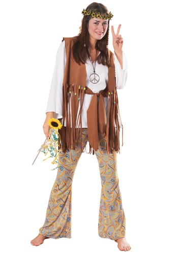 Adult Hippie Love Child Size Costume - Female Hippie Halloween Costumes