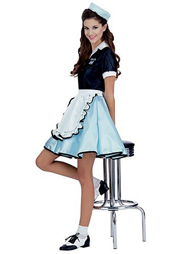 Click Here to buy Womens Car Hop Girl Costume - 1950s Car Hop Girl Costume Ideas from HalloweenCostumes, CDN Funds & Shipping