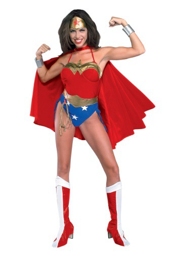 Click Here to buy Deluxe Wonder Woman Costume from HalloweenCostumes, CDN Funds & Shipping