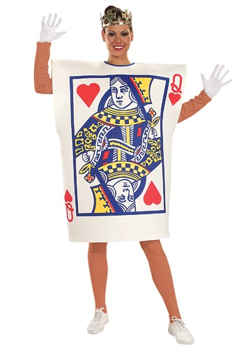 Click Here to buy Queen of Hearts Card Costume from HalloweenCostumes, CDN Funds & Shipping