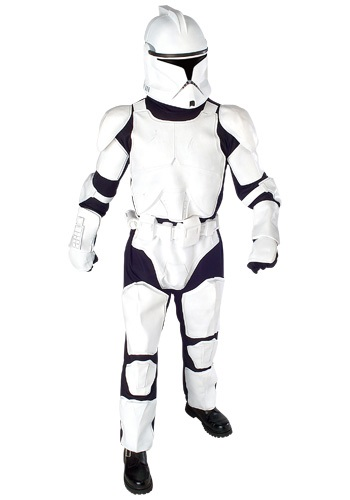 Click Here to buy Star Wars Clone Trooper Deluxe Costume from HalloweenCostumes, CDN Funds & Shipping
