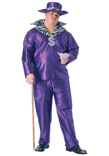 Click Here to buy Big Daddy Pimp Plus Size Costume from HalloweenCostumes, CDN Funds & Shipping