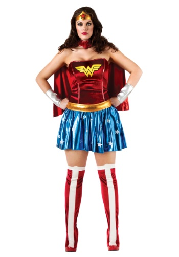Click Here to buy Wonder Woman Plus Size Costume | Woman Marvel Costumes from HalloweenCostumes, CDN Funds & Shipping