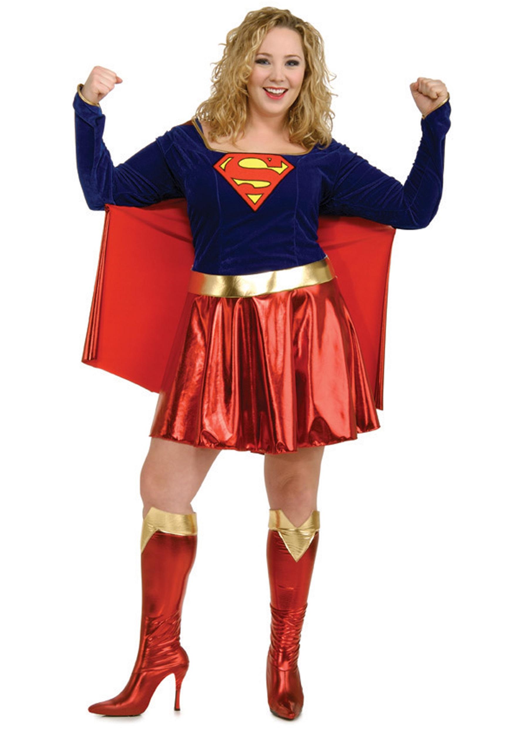 sc 1 st  Halloween Costumes UK & Adult Plus Size Supergirl Costume