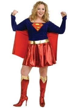 Adult Plus Size Supergirl Costume