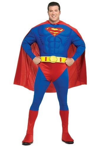Adult Superman Costume Plus Size - Superhero Halloween Costumes