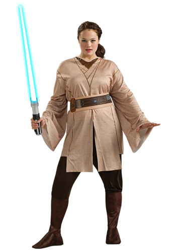 Click Here to buy Female Jedi Costume Plus Size from HalloweenCostumes, CDN Funds & Shipping