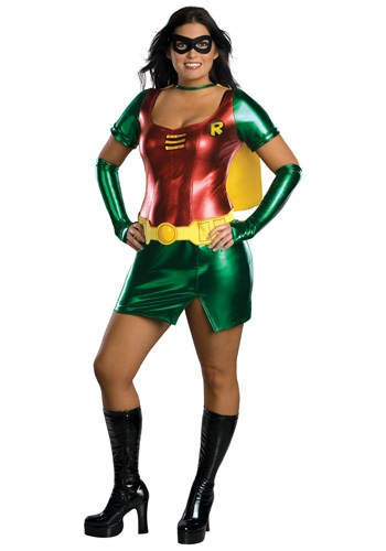 Click Here to buy Plus Size Robin Girl Costume from HalloweenCostumes, CDN Funds & Shipping