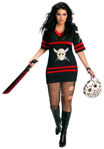 Click Here to buy Plus Size Sexy Jason Voorhees Costume from HalloweenCostumes, CDN Funds & Shipping