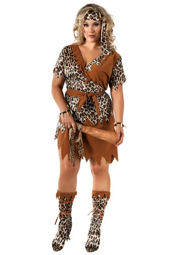 Click Here to buy Cavewoman Plus Size Costume from HalloweenCostumes, CDN Funds & Shipping