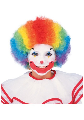 Multi Color Clown Wig