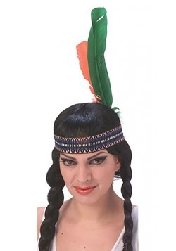 Native American Headband with Feathers