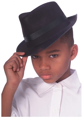 Click Here to buy Kids Gangster Fedora Costume Hat from HalloweenCostumes, CDN Funds & Shipping