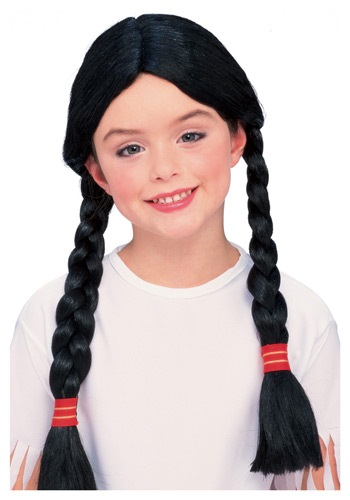Click Here to buy Girls Native American Costume Wig from HalloweenCostumes, CDN Funds & Shipping