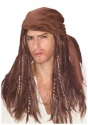 Brown Caribbean Pirate Wig