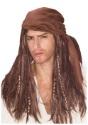 Brown Caribbean Pirate Wig