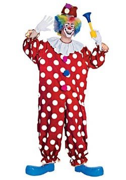 Adult Dotted Clown Costume